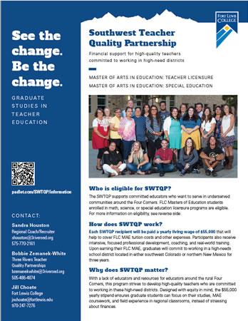 Download Southwest Teacher Quality Partnership flyer